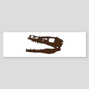 Velociraptor Skull Bumper Sticker