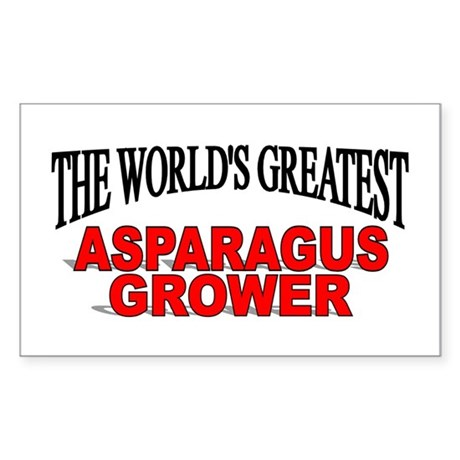 """The World's Greatest Asparagus Grower"" Sticker (R"