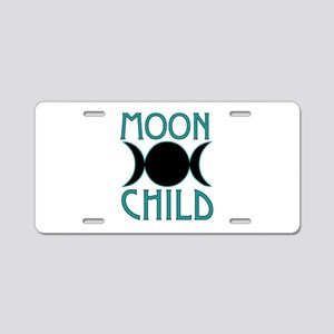 Moon Child Aluminum License Plate
