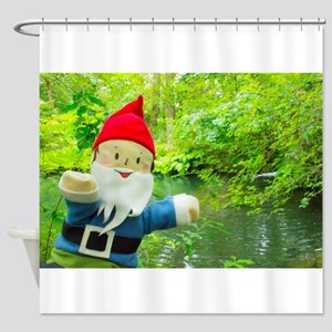 Quiet Creek Gnome Shower Curtain