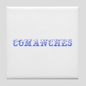 Comanches-Max blue 400 Tile Coaster