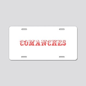 Comanches-Max red 400 Aluminum License Plate