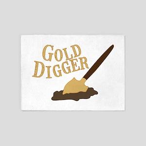 Gold Digger 5'x7'Area Rug
