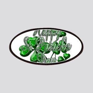 Happy St Patricks Day Shamrocks Patch