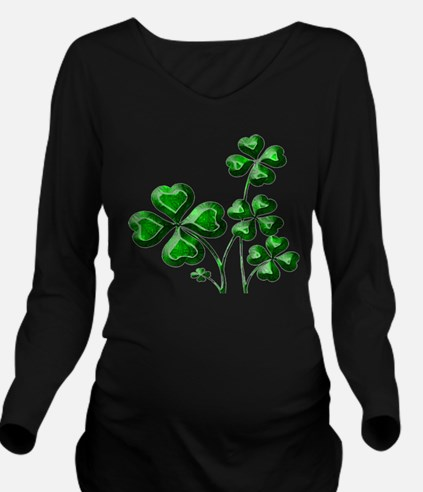 St Patrick Shamrocks PD Long Sleeve Maternity T-Sh