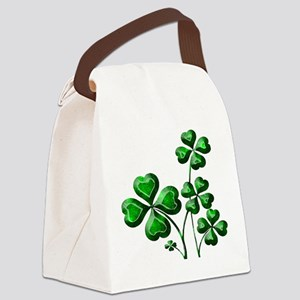 St Patrick Shamrocks PD Canvas Lunch Bag