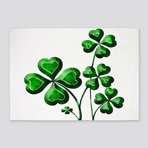 St Patrick Shamrocks PD 5'x7'Area Rug