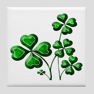 St Patrick Shamrocks PD Tile Coaster