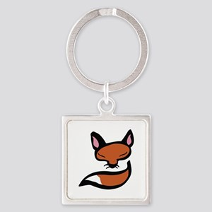 Fox Head & Tail Keychains