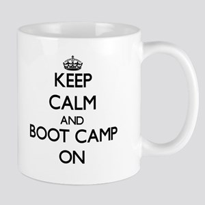 Keep Calm and Boot Camp ON Mugs