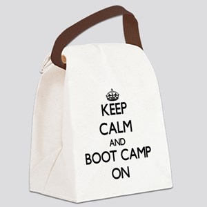 Keep Calm and Boot Camp ON Canvas Lunch Bag