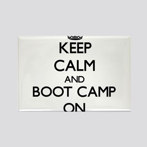 Keep Calm and Boot Camp ON Magnets