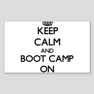 Keep Calm and Boot Camp ON Sticker