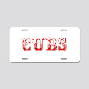 Cubs-Max red 400 Aluminum License Plate