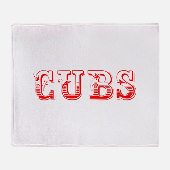 Cubs-Max red 400 Throw Blanket