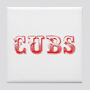 Cubs-Max red 400 Tile Coaster