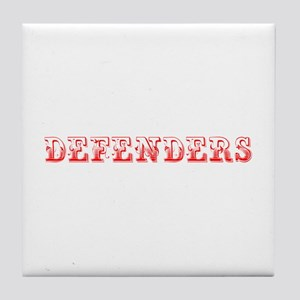 Defenders-Max red 400 Tile Coaster