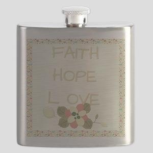 Faith Hope Love Flask