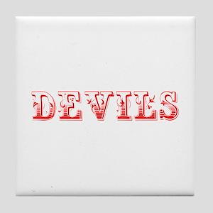 devils-Max red 400 Tile Coaster