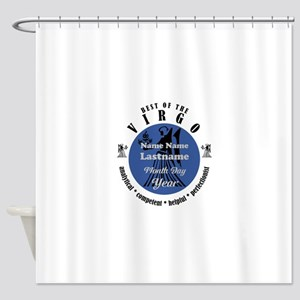 Custom Text Virgo Horoscope Zodiac Sign Shower Cur