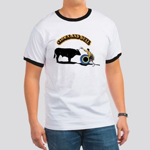 Clown and Bull Ringer T