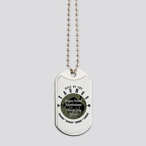 Custom Text Taurus Horoscope Zodiac Sign Dog Tags