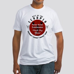 Custom Text Scorpio Horoscope Zodiac Sign T-Shirt