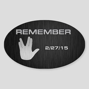 SPOCK REMEMBER Sticker (Oval)