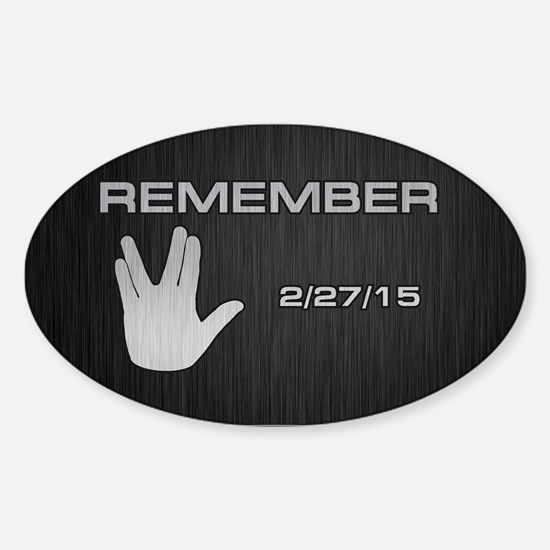 SPOCK REMEMBER Sticker (Oval)