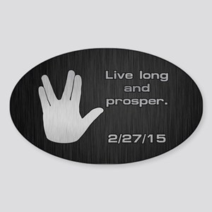 SPOCK LLAP 22715 Sticker (Oval)