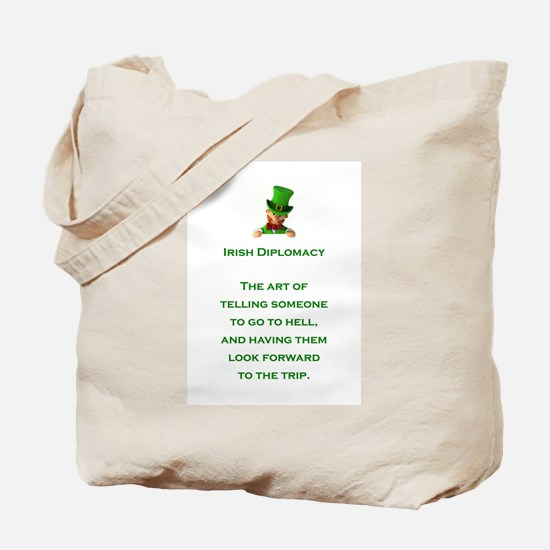 IRISH DIPLOMACY Tote Bag