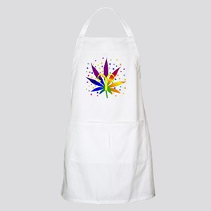 Rainbow Marijuana Aries Apron