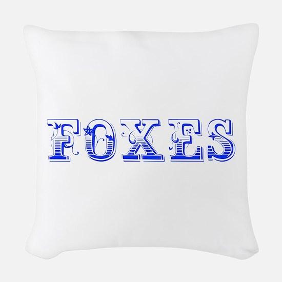 Foxes-Max blue 400 Woven Throw Pillow