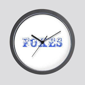 Foxes-Max blue 400 Wall Clock