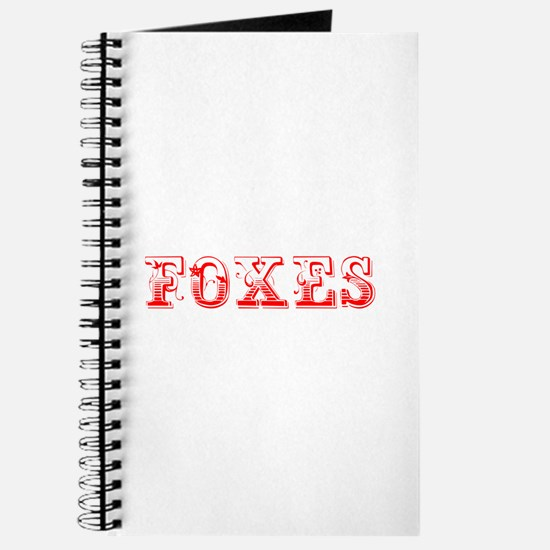 Foxes-Max red 400 Journal
