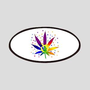 Rainbow Marijuana Taurus Patch