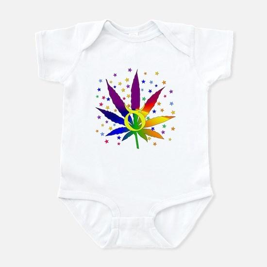 Rainbow Marijuana Taurus Infant Bodysuit