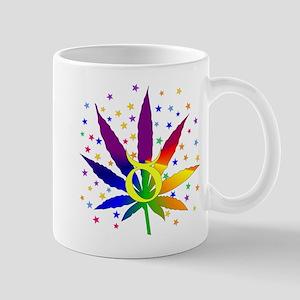 Rainbow Marijuana Taurus Mug