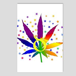 Rainbow Marijuana Taurus Postcards (Package of 8)