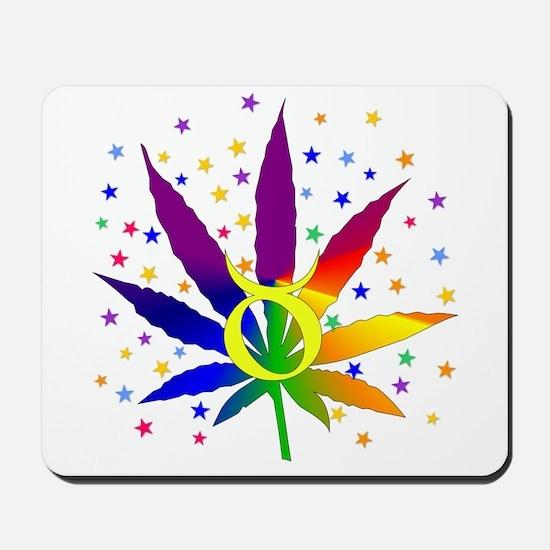 Rainbow Marijuana Taurus Mousepad