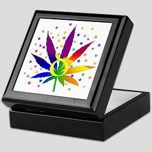 Rainbow Marijuana Taurus Keepsake Box