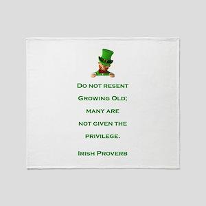 IRISH PROVERB Throw Blanket