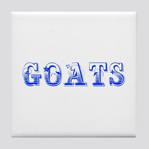 Goats-Max blue 400 Tile Coaster
