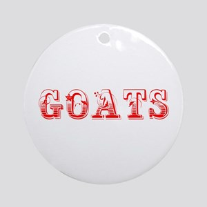 Goats-Max red 400 Ornament (Round)