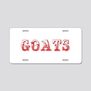 Goats-Max red 400 Aluminum License Plate
