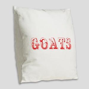 Goats-Max red 400 Burlap Throw Pillow
