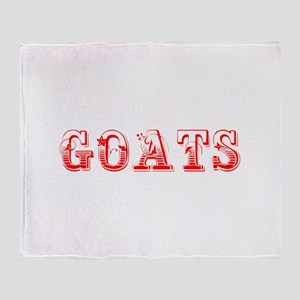 Goats-Max red 400 Throw Blanket