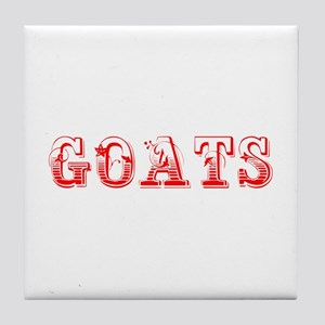 Goats-Max red 400 Tile Coaster