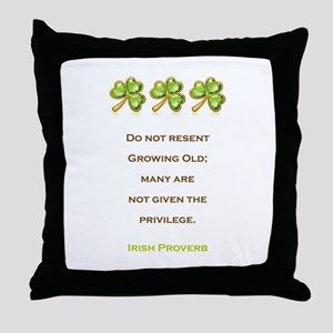 IRISH PROVERB Throw Pillow