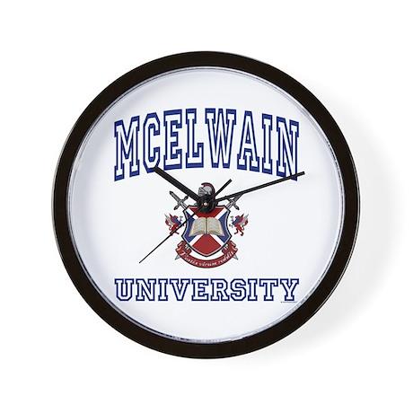 MCELWAIN University Wall Clock